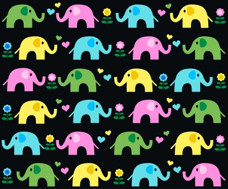 seamless elephant pattern Vector