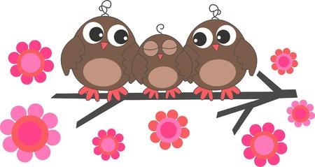 3 つの甘いフクロウ