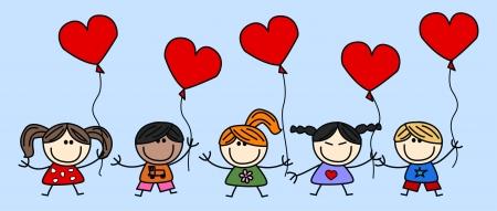 Lieben glückliche Kinder Standard-Bild - 17568136
