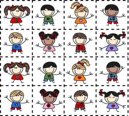 mixtes ethniques enfants heureux