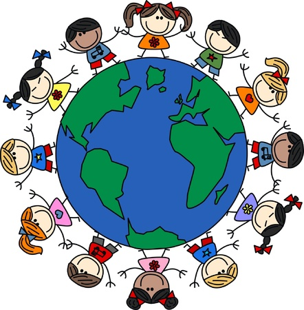 gladness: mixed ethnic children