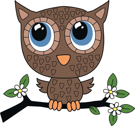 micro print: a sweet little brown owl