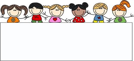 mixtes ethniques des enfants heureux
