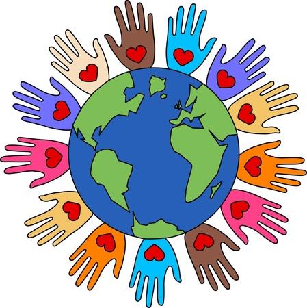 peace freedom diversity love Stock Vector - 17696218