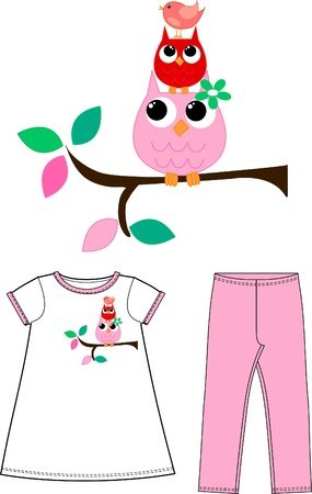 pattern for childrens wear clothing Stock Vector - 17780128