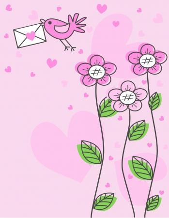 バレンタインの日や他のお祝い  イラスト・ベクター素材