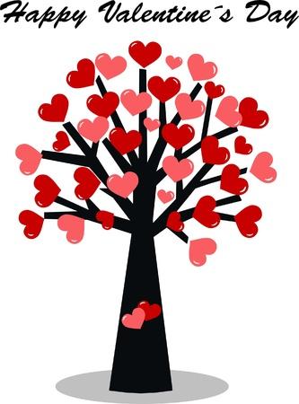 幸せなバレンタインデー  イラスト・ベクター素材