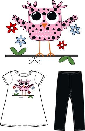 children's wear: pattern for childrens wear fashion industry Illustration