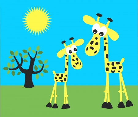 celebration invitation picture giraffes Vector