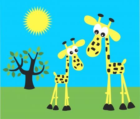 celebration invitation picture giraffes Stock Vector - 17935877