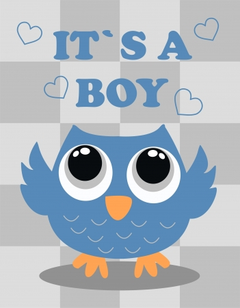 baby shower boy Stock Vector - 19146604