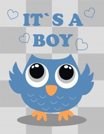 baby shower boy Illustration