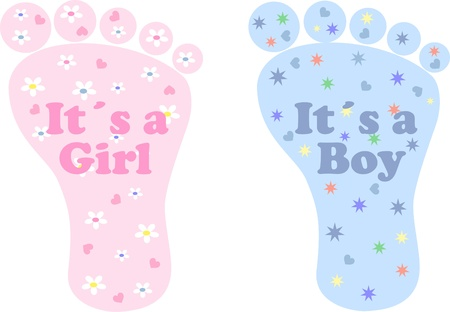 baby shower boy girl newborn Stock Vector - 19146607