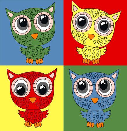 seamless owl pattern  Stock Vector - 19296374