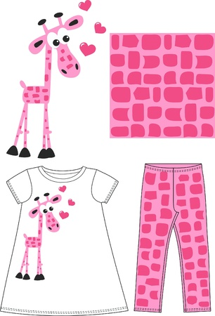pattern for children fashion industry Vector