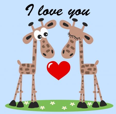 I love you or valentines day Stock Illustratie
