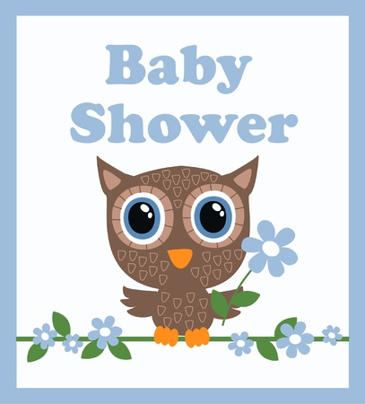 baby picture: baby shower boy Illustration