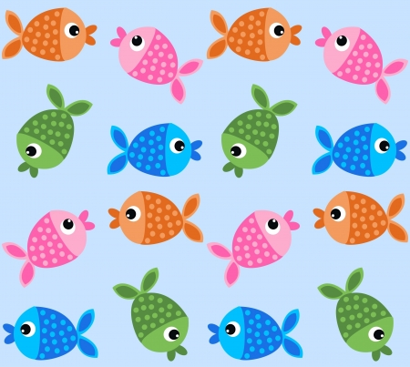 free stock images: seamless fish pattern background