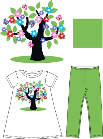 pattern for children wear Vector