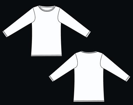 sleeved: garment sketch long sleeved top