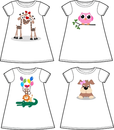 tock illustration: print pattern for children fashion industry