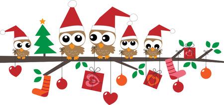 prázdniny: Veselé Vánoce šťastný svátky Ilustrace