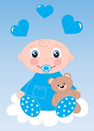 naming: newborn baby or baby shower Illustration