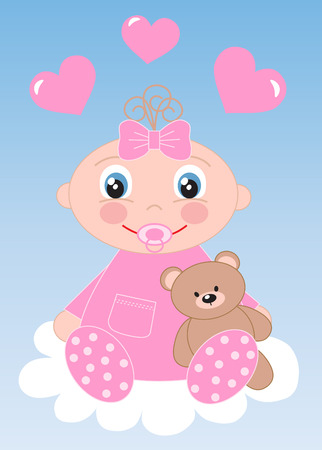 naming: newborn baby or baby shower Illustration
