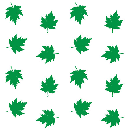 leafs: seamless pattern green leafs