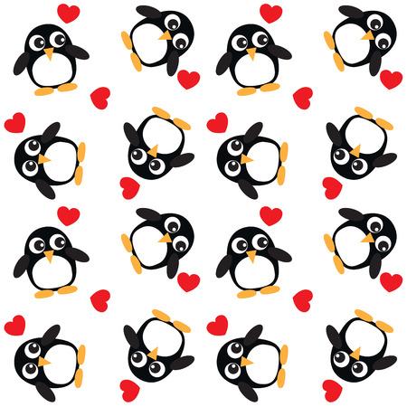 penguin background Vector