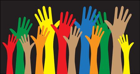 manos que alcanzan encanta la diversidad libertad