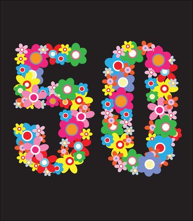 gelukkige verjaardag of andere verjaardag Stock Illustratie