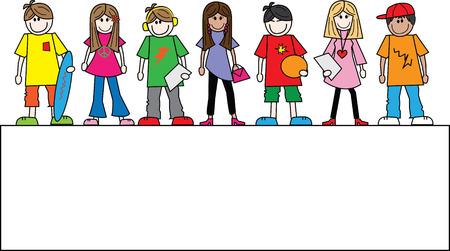 混合: 混合民族 10 代少年少女ヘッダーやバナー