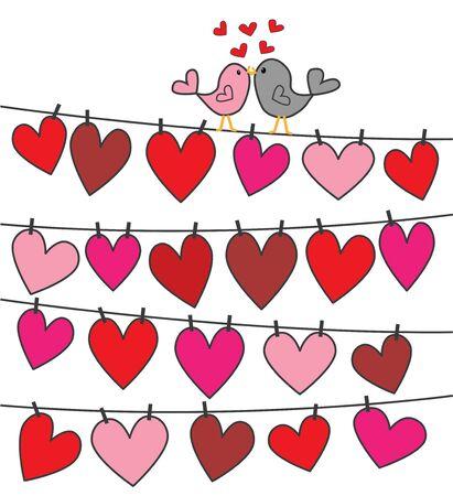 love birds Ilustração
