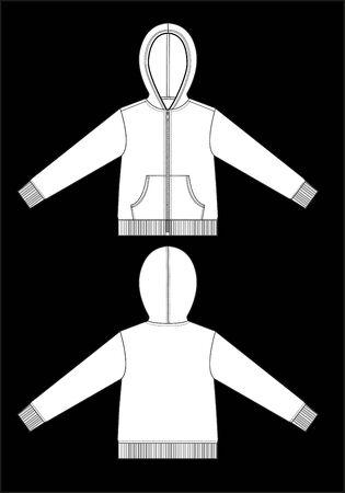 hoodie: hoodie garment sketch template
