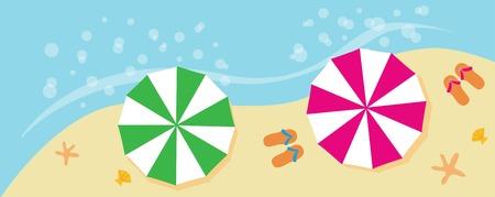 estrella caricatura: playa de las vacaciones de verano