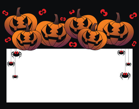 happy halloween header or invitation