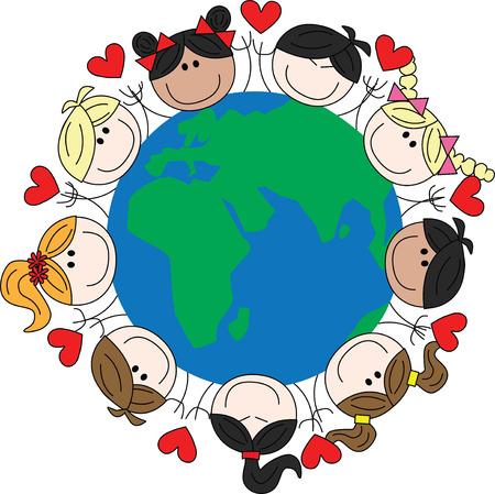 混合: mixed ethnic children around our world