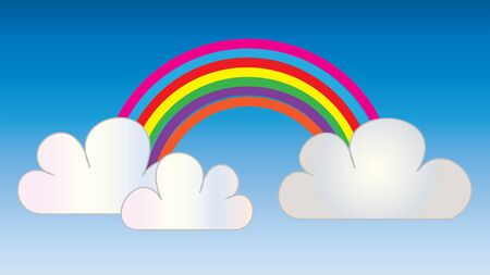 rainbow cloud sky header