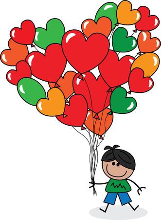 cartoons sweet: Happy birthday or happy Valentines day Illustration