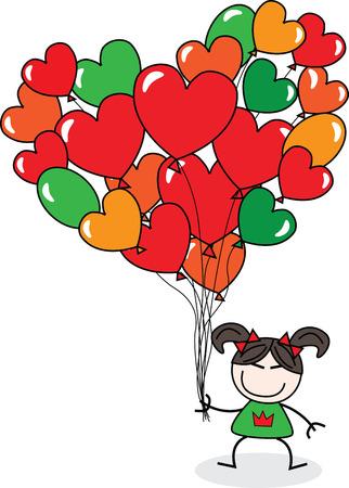 free vector art: Happy birthday or happy Valentines day Illustration