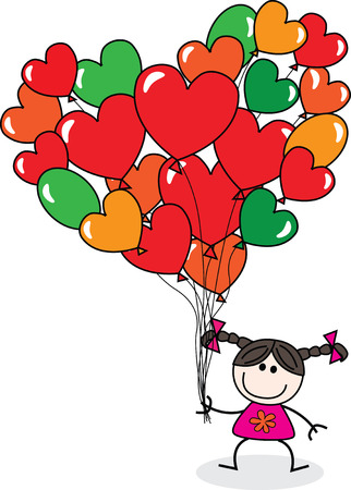 Happy birthday or happy Valentines day Illustration