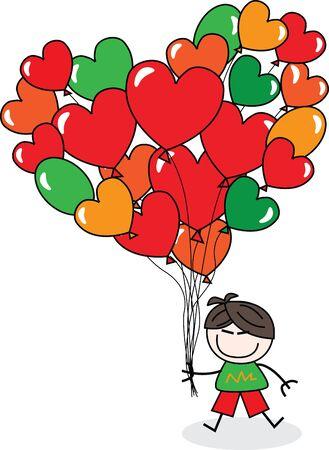 Gefeliciteerd met je verjaardag of gelukkig Valentines day Stock Illustratie