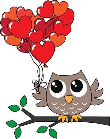 gelukkige verjaardag of Valentijnsdag Stock Illustratie