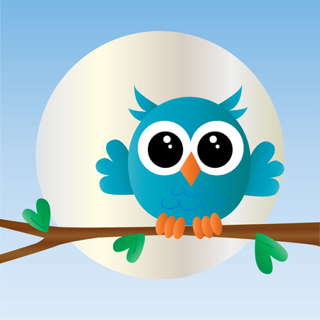 a sweet little blue owl