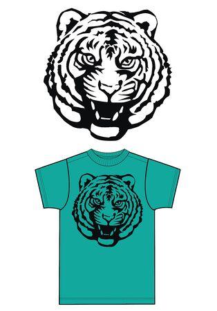 tijgerprint voor de mode-industrie