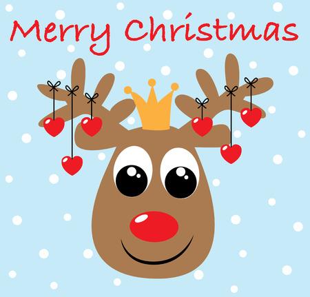 Vrolijke kerstmis gelukkige vakantie Stock Illustratie