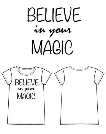 Print voor t-shirt mode-industrie