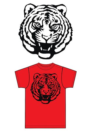 free illustration: a cool tiger print of fashion industry