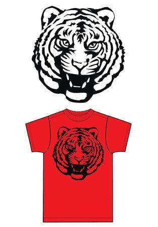 een coole tijgerdruk van de mode-industrie Stock Illustratie